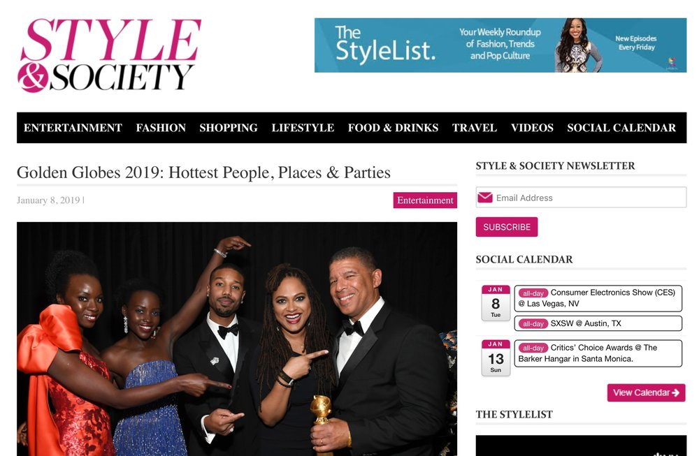 Style & Society - Golden Globes