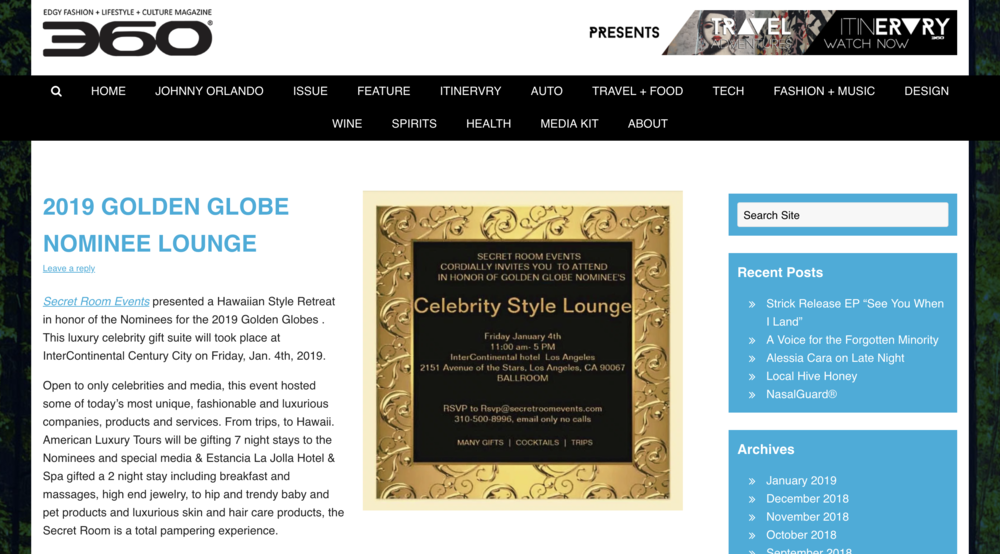 Edgy Fashion + Lifestyle + Culture Magazine - The Golden Globes
