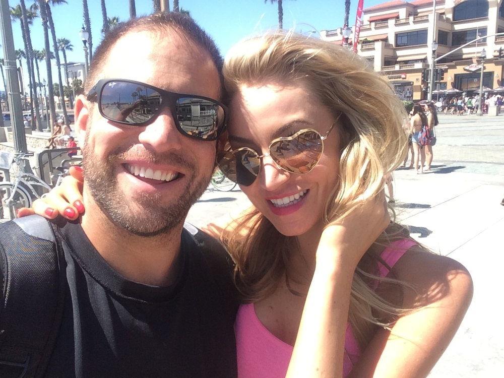 With the love of his life, Annalise, in Huntington Beach, CA