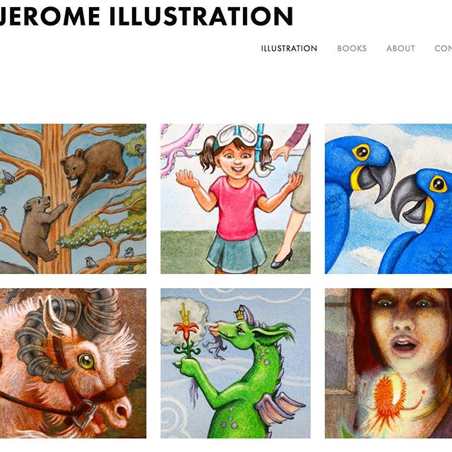 New website finally up! Check it out at: www.jeromeillustration.com  #childrensbooks #childrensbookillustration #illustration #illustrator