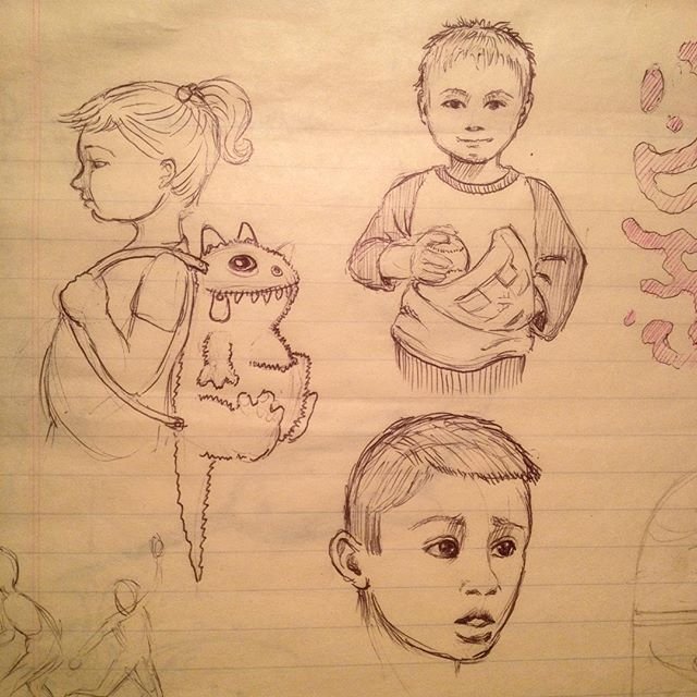 8 hour layover in SFO...time for some sketching.#childrensbook #penandink #sketchbook