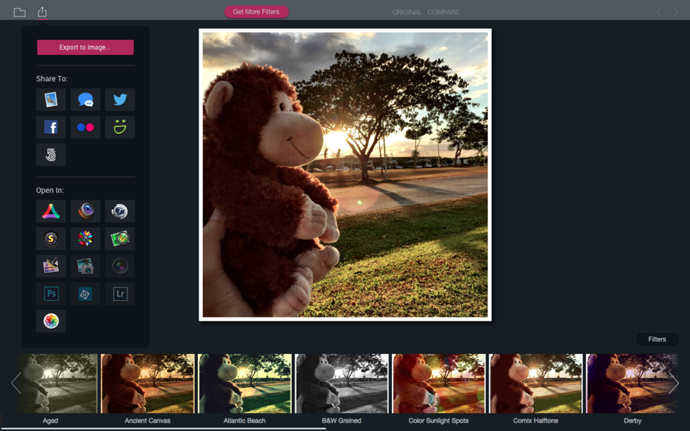 Filters for Photos as a standalone Mac app