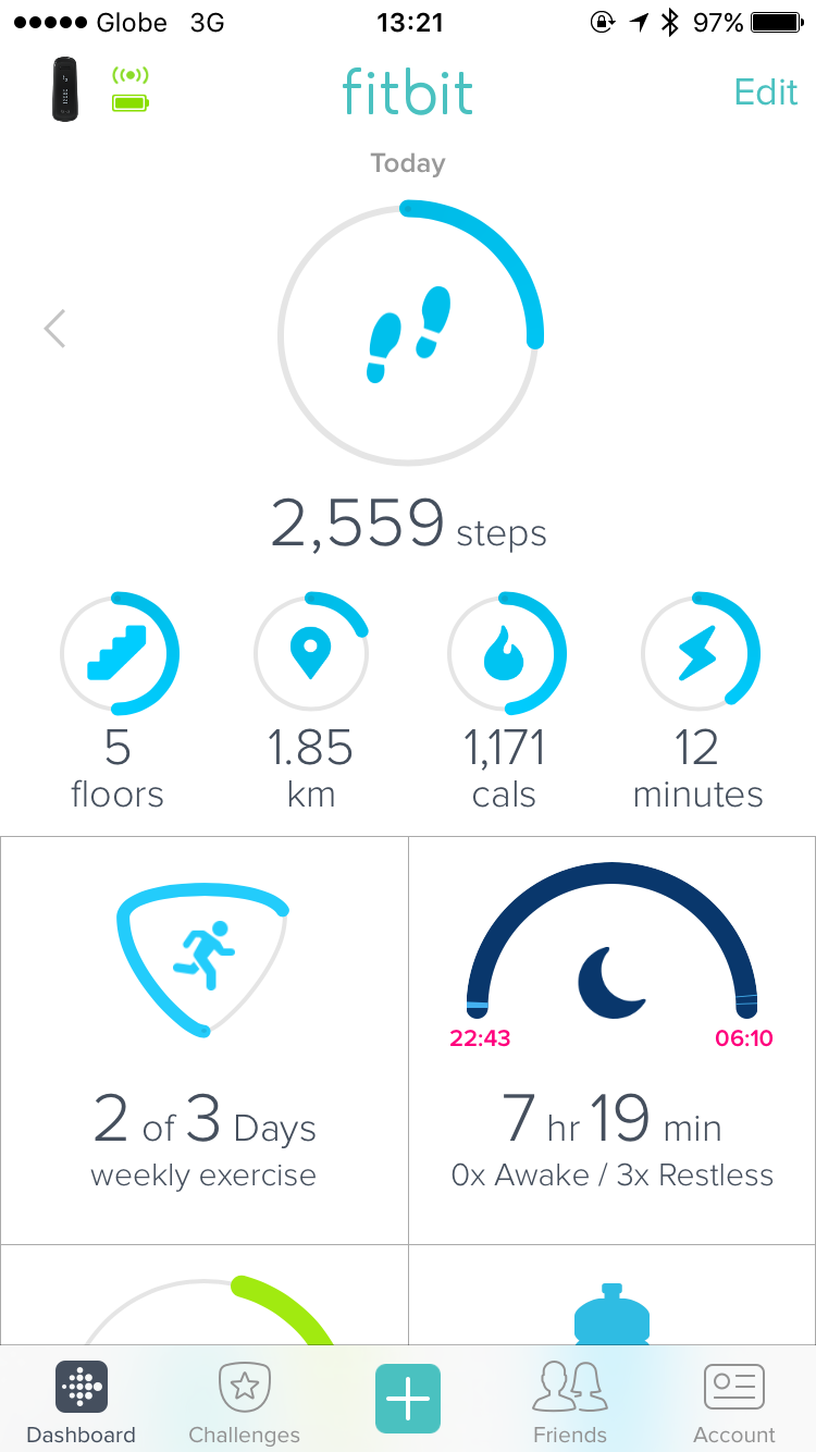 New Fitbit Dashboard
