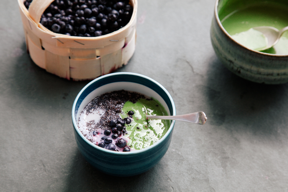 The Modern Physic Garden Kitchen Collab: Black Amaranth Porridge with Matcha Yogurt