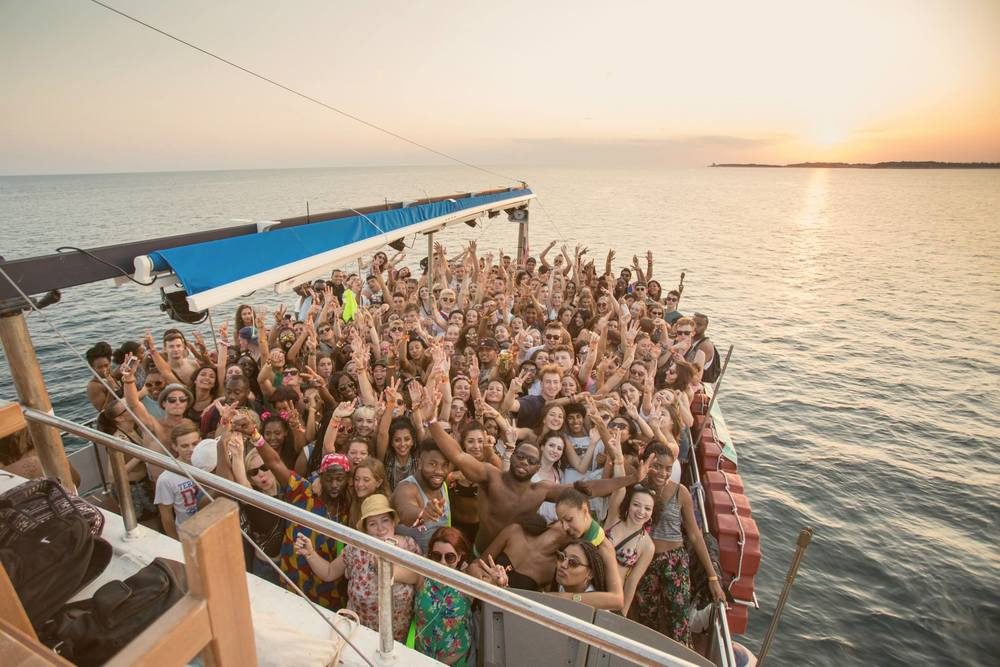 Outlook - boat party - credit Jack Pasco