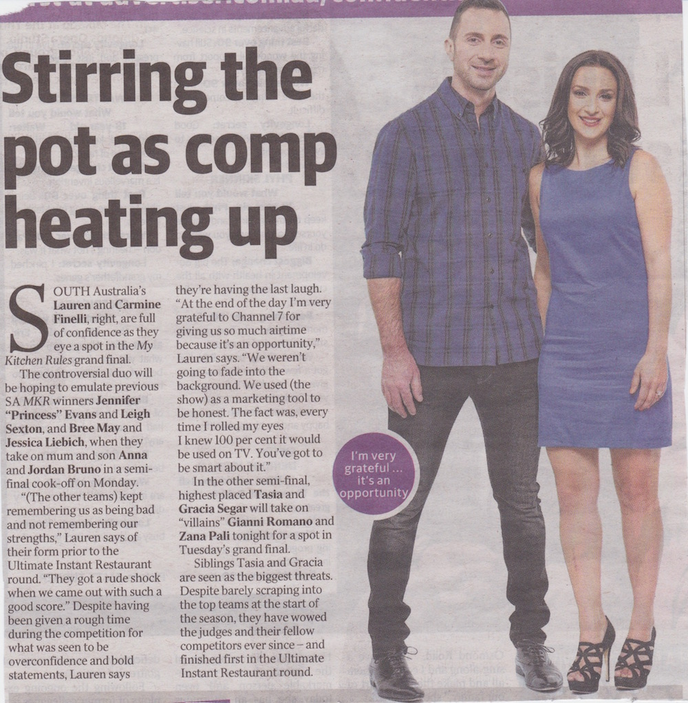 My Kitchen Rules\' 2016: Stirring the pot as comp heating up — FOLLOW ...