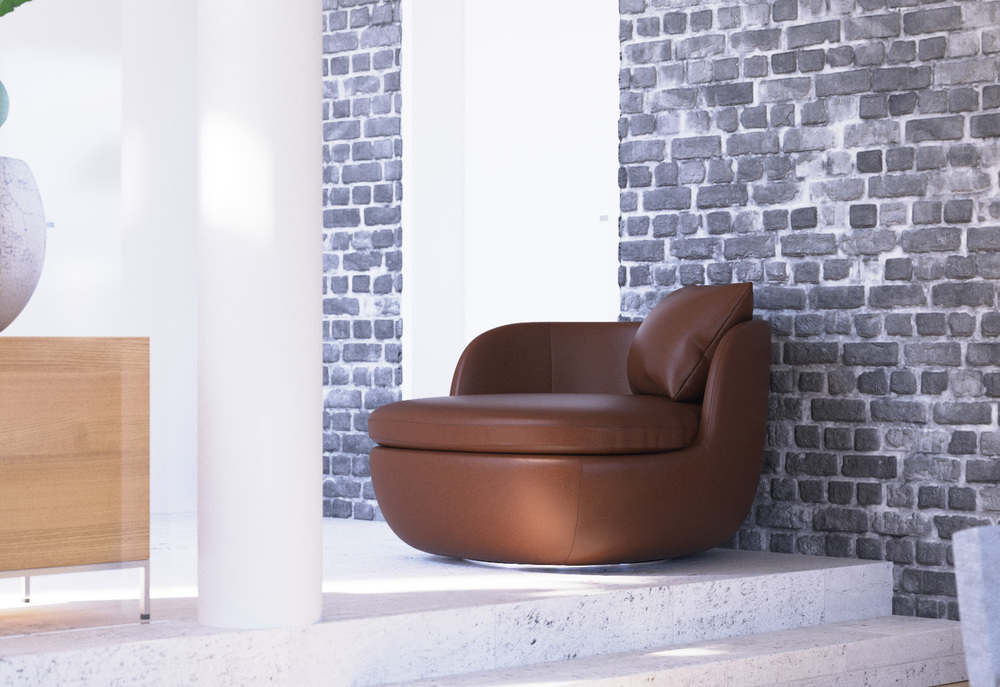 PD Shop - Moooi Bart Swivel armchair 3d model