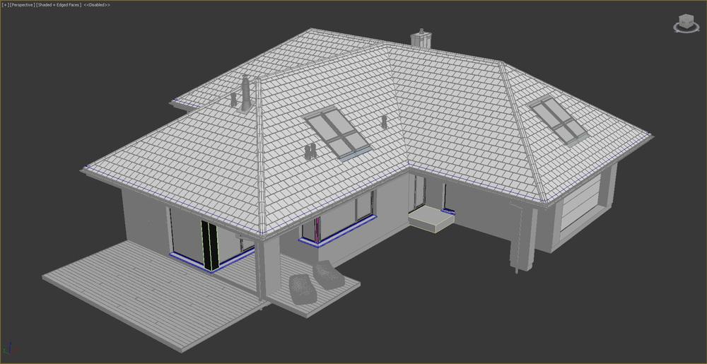 Single Family House 3d Model