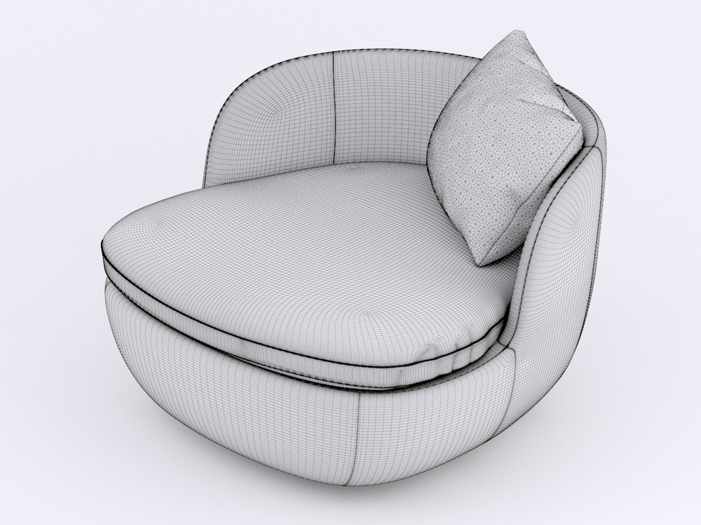 Furniture 3d model - armchair