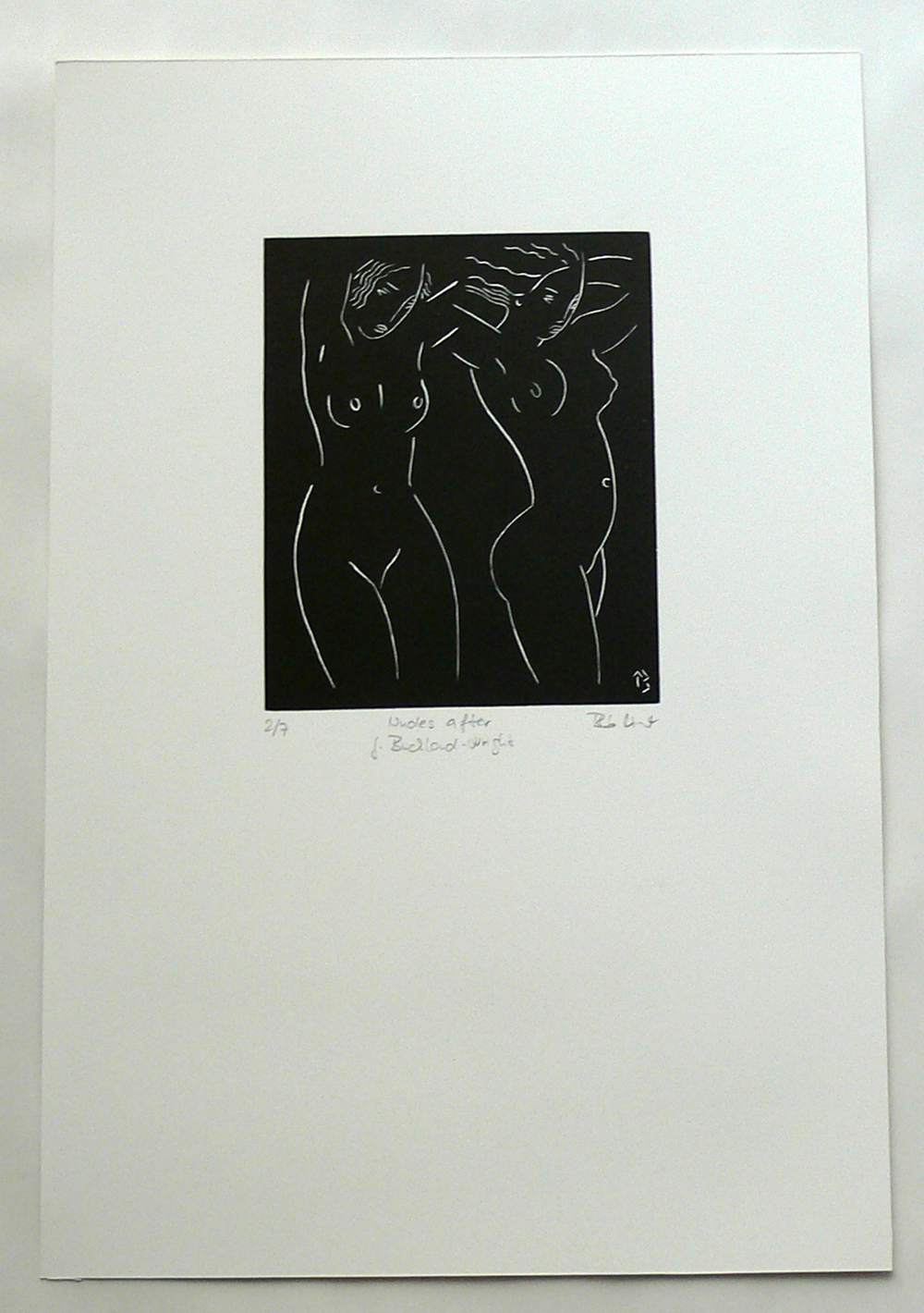 Nudes after J. Buckland-Wright (print)