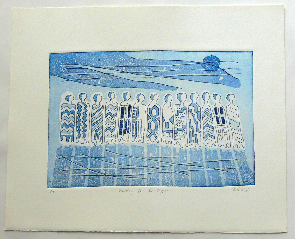 Waiting for the supper (etching)
