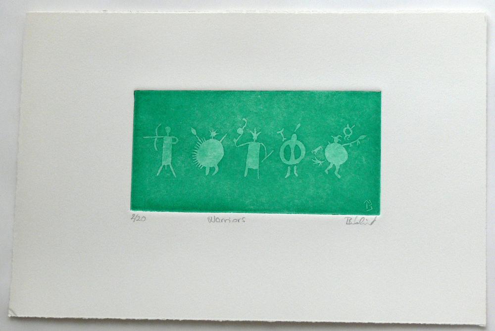 Warriors (etching)