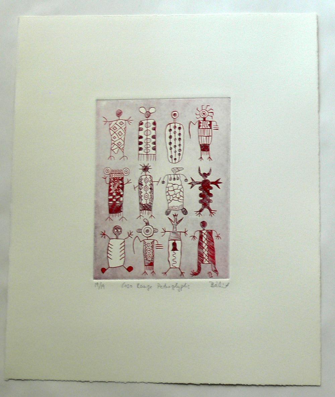 Coso Range Petroglyphs (etching)