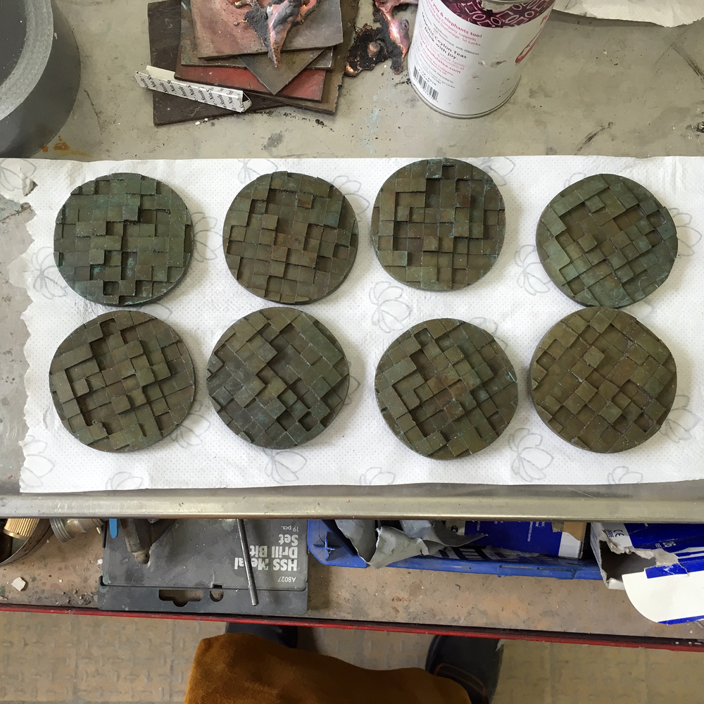 medals after patination
