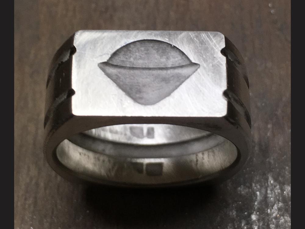 Galileo probe silver master ring