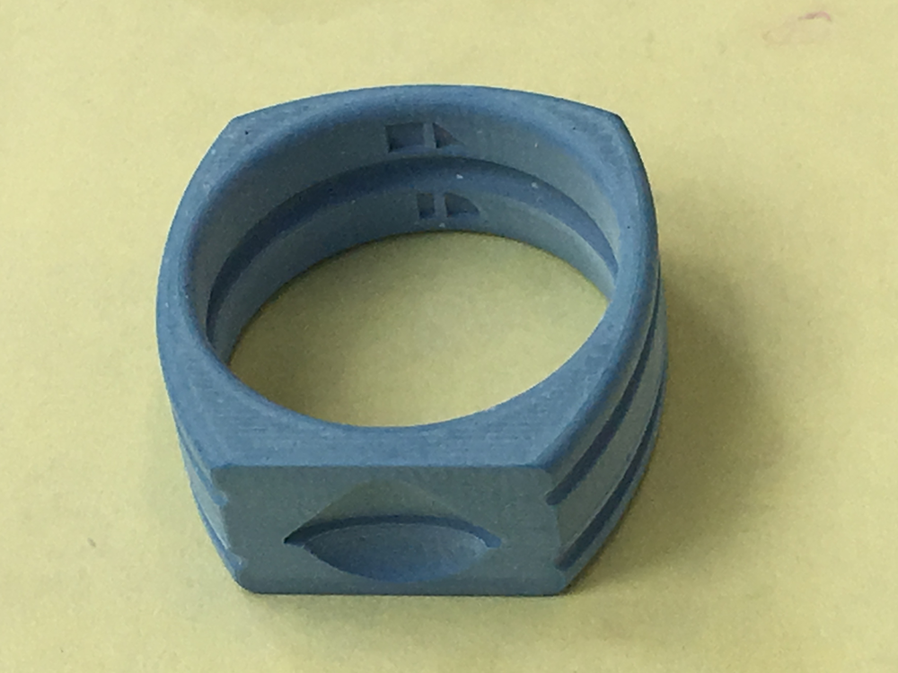 3d printed wax model for the Galileo ring