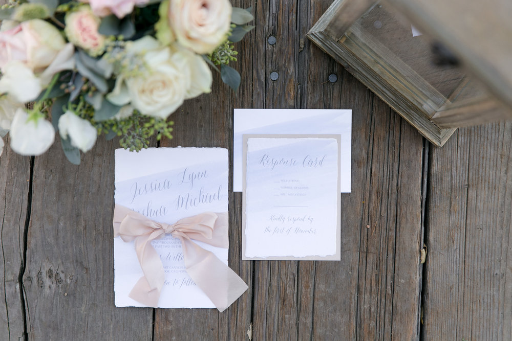 temeculaweddinginvitations.com | Leah Marie Photography | Wedding Inspiration Using Serenity and Rose Quartz | San Diego Wedding at Los Willows | Paper Villa Stationery and Design