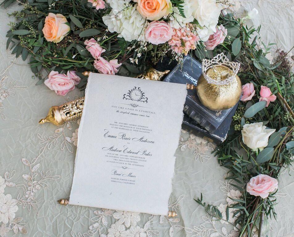 temeculaweddinginvitations.com | Paper Villa Stationery and Design | Cinderella Wedding Inspiration | Temecula Wedding Invitations