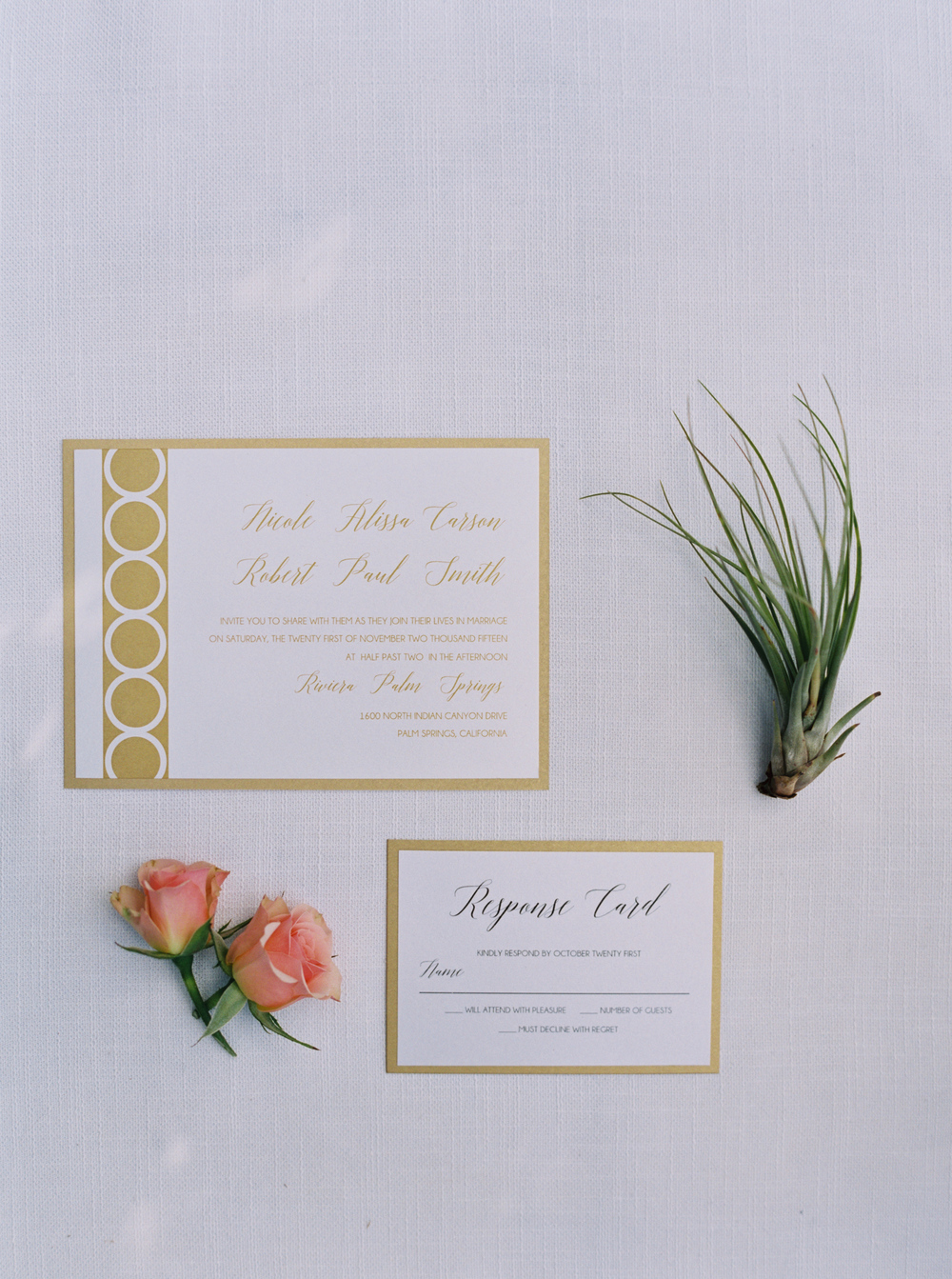 temeculaweddinginvitations.com | Wedding Inspiration at the Riviera Palm Springs | Paper Villa Stationery and Design | Geometric Wedding Ideas | Blueberry Photography