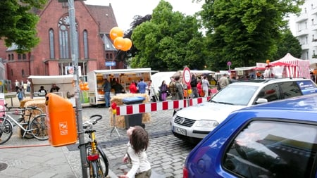 Start your day by visiting the Schillermarkt - With its 120 - 150 market stalls, you can roam the market freely and get a great sense of how diverse this particular part of Neukölln is - we got a late start and missed the bread guy but still enjoyed the the energy of the market!