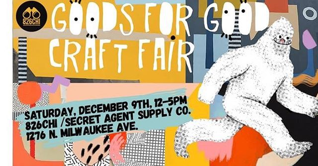 I will be at this event selling some pins, jewelry, and home goods! A percent of the proceeds go to @826chi charity, so you can buy gifts for the holidays and know the money is going to a good cause. 😊😊😊