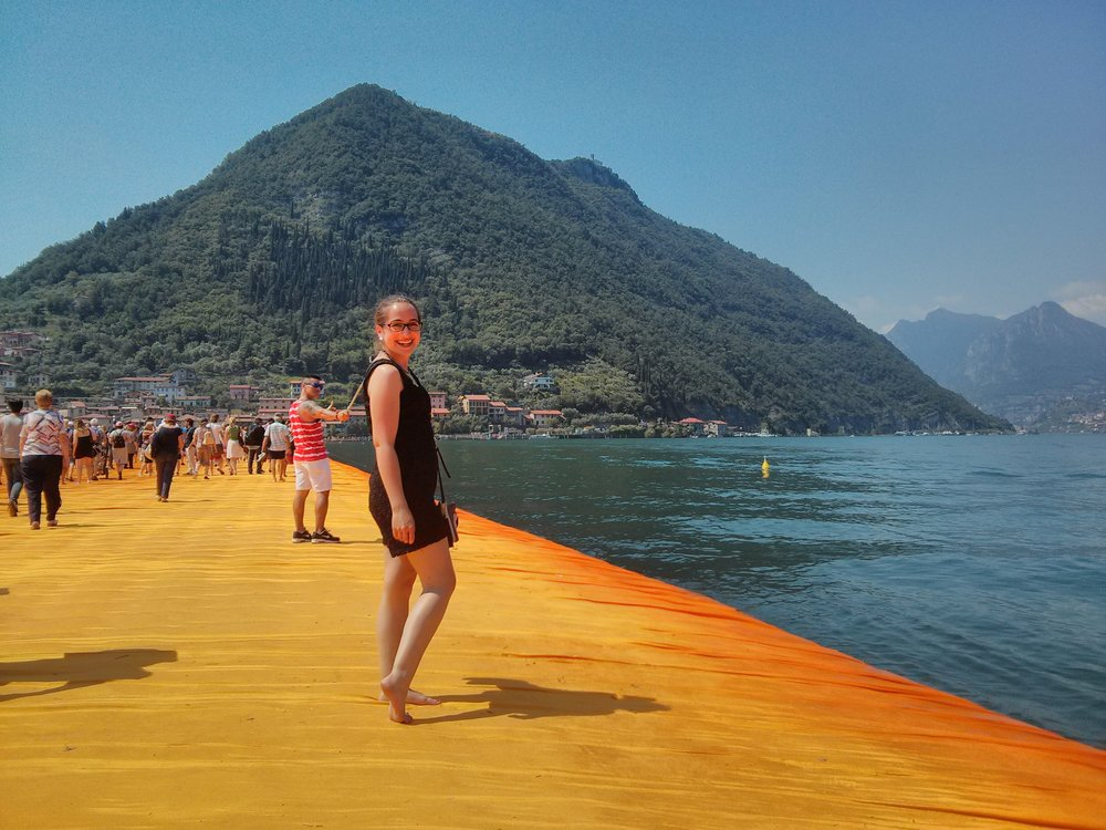 The best way to get the whole experience: Barefoot on the Floating Piers