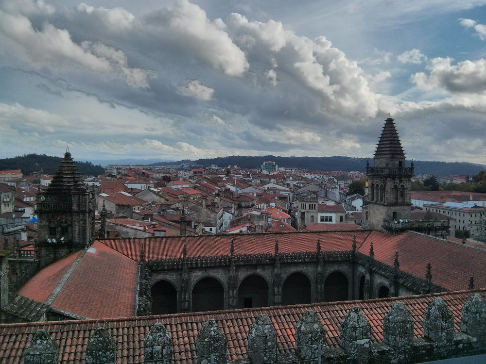 On the roof of the cathedral of Santiago de Compostela, ©Anabel Roque Rodriguez