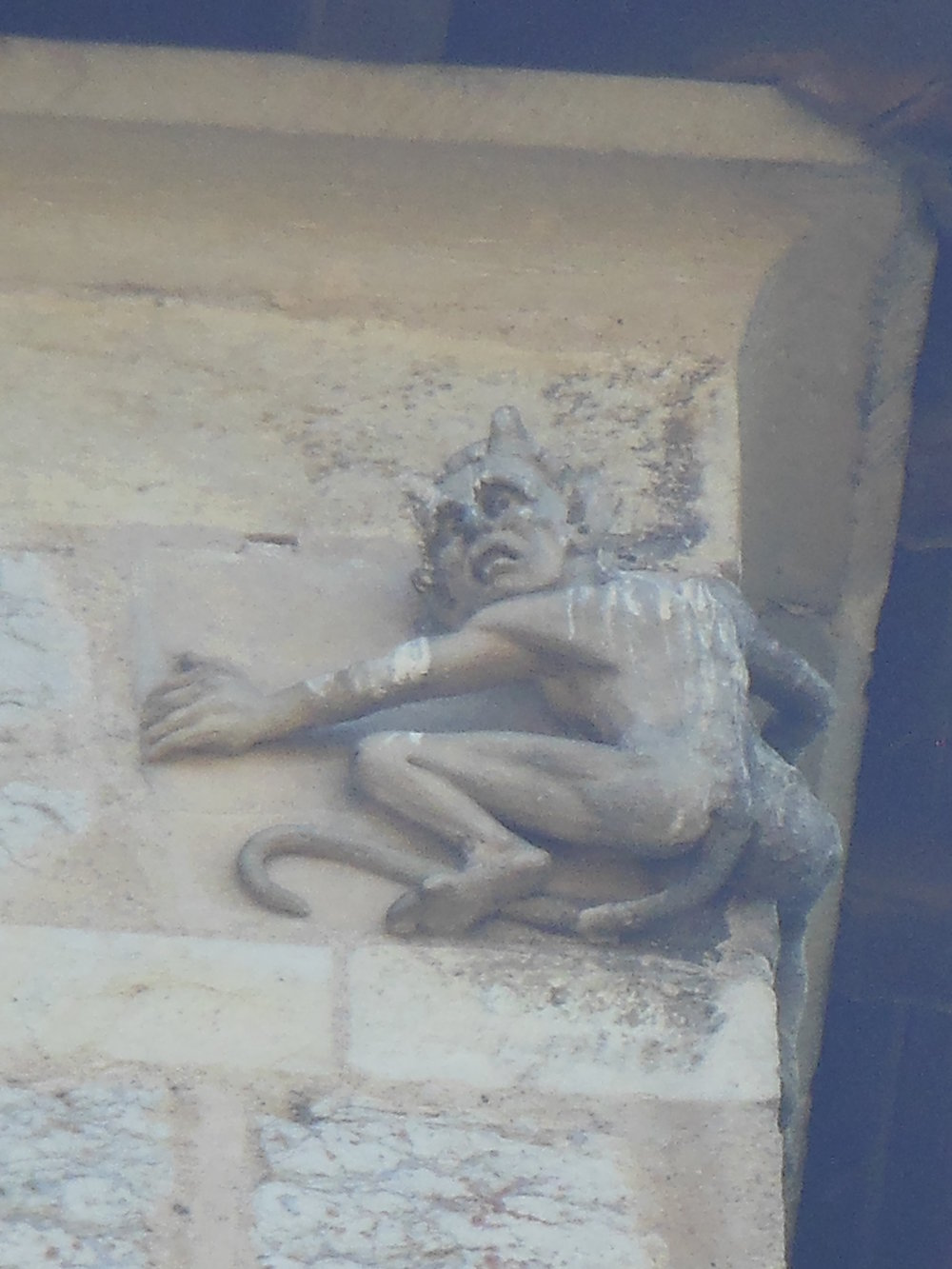 Detail Devil,PONT VALENTRÉ, CAHORS, © ANABEL ROQUE RODRIGUEZ
