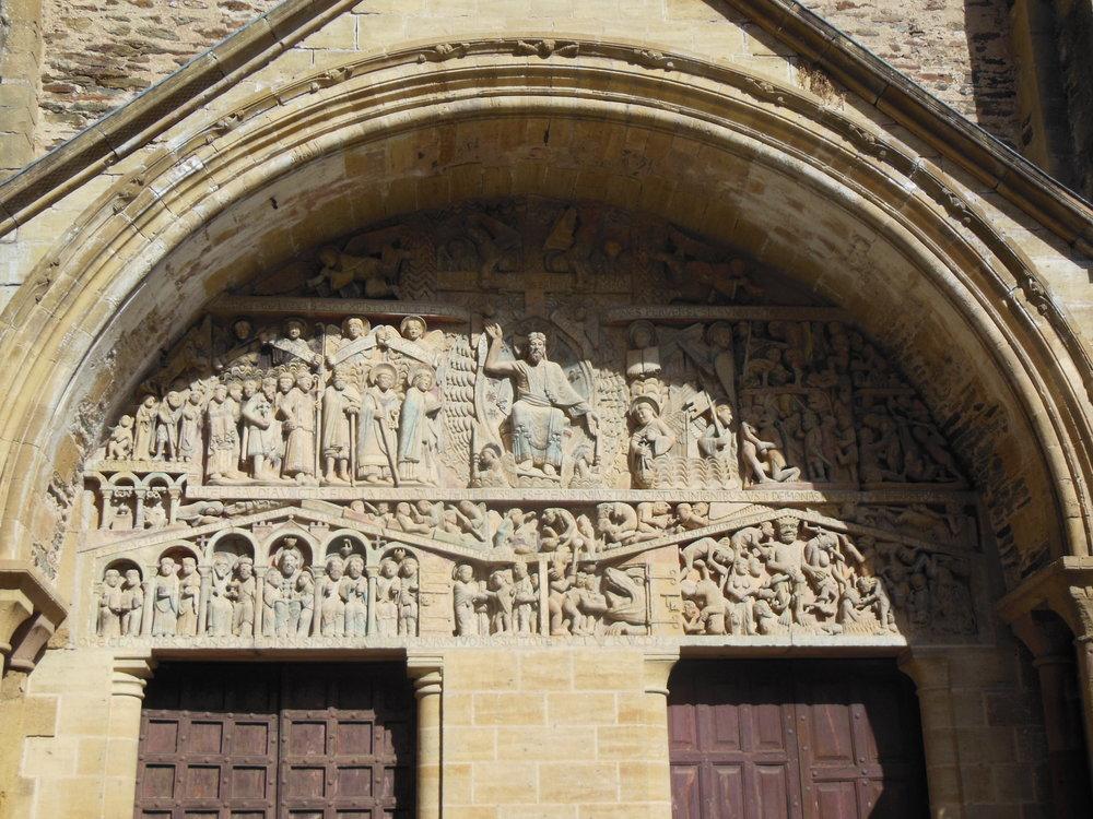 Last Judgment tympanum, abbey of Sainte‐Foy, France, Conques, Camino de Santiago, © Anabel Roque Rodríguez