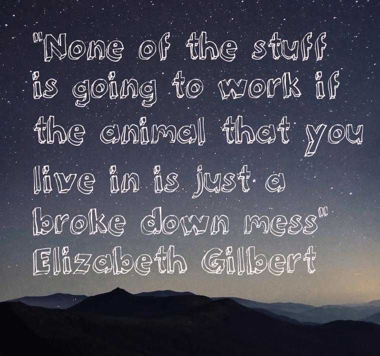 Wellbeing and creative work, Elizabeth Gilbert
