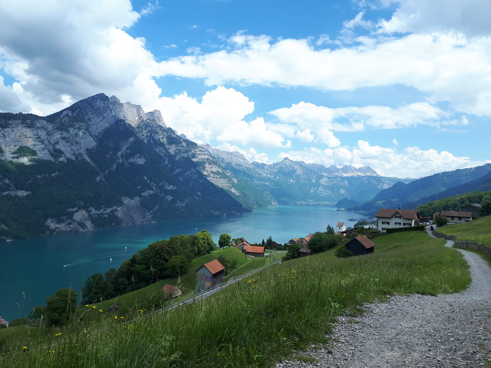 Image from one of my beautiful hikes here in switzerland. THis time around the Walensee.