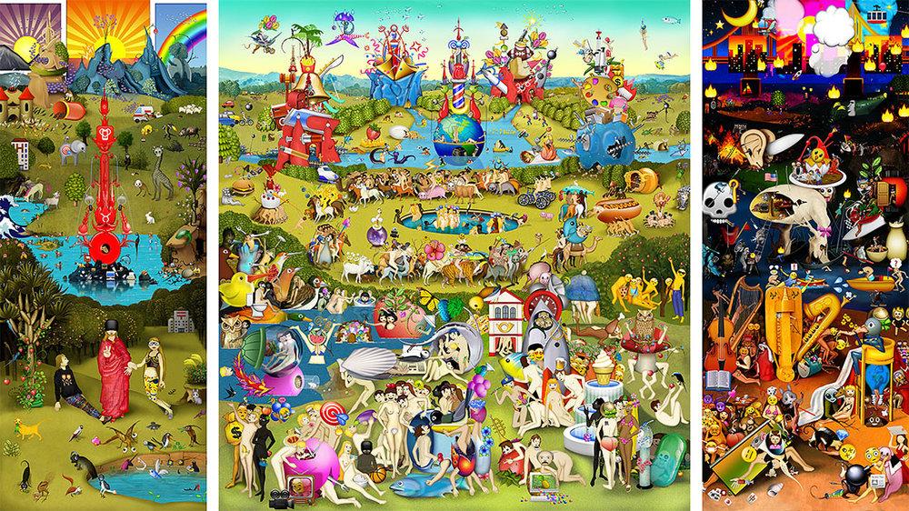 The Garden of Emoji Delights, digital C-print, 13ft x 7ft, 2014 © Courtesy of the Artist