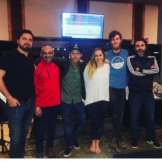 A huge thanks to @mattnoveskey & @mattmeli_ for a great day in the studio. And another huge thanks to @kimdeschamps & @seanmgiddings for laying down some tracks for us! @orbstudiosatx