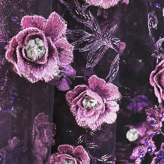 New Ebad Fabrics Rhinestone Floral Lace #ebad #fabrics #ebadfabrics #new #nyc #fabric #garment #garmentdistrict #dress #fashion #style #fabricstore #fashiongram #sew #sewing #designer #summer #sun #custom #luxury #highend #beaded #rhinestone #lace #floral #flowers #flower #purple