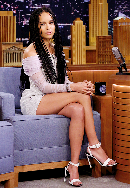 celebritiesofcolor: Zoe Kravitz on The Tonight Show Starring Jimmy Fallon