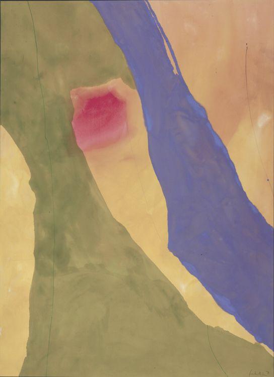 nobrashfestivity :     Helen Frankenthaler, Pistachio, 1971.