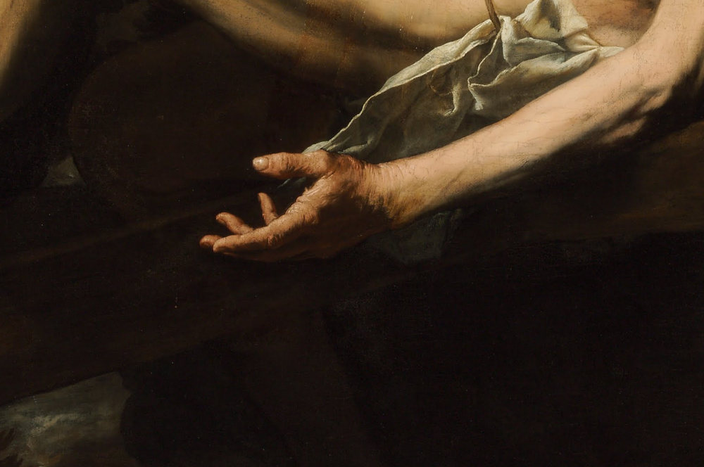 artdetails: Jusepe de Ribera,Martyrdom of St. Andrew(detail), 1628