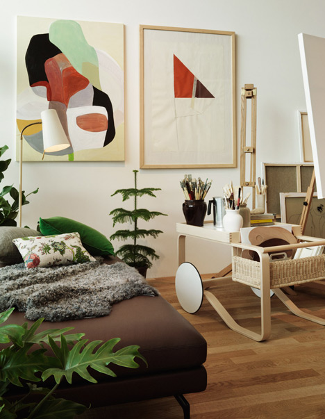 jennilee: (via Studioilse arranges Vitra and Artek furniture into fictitious home)