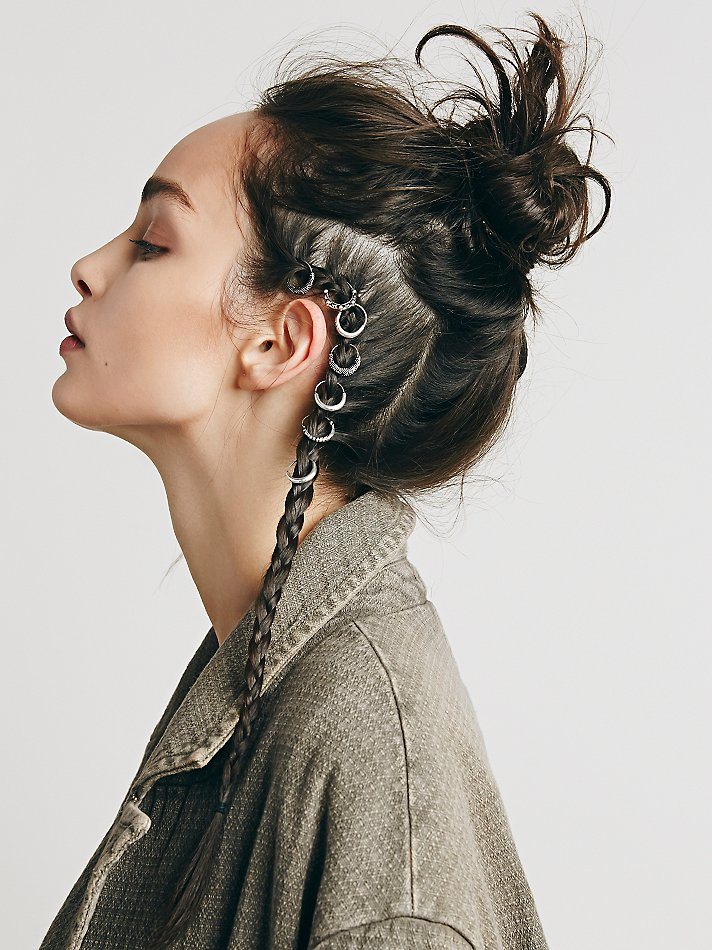 freepeople :     Add a new element to your braids with  Hair Rings