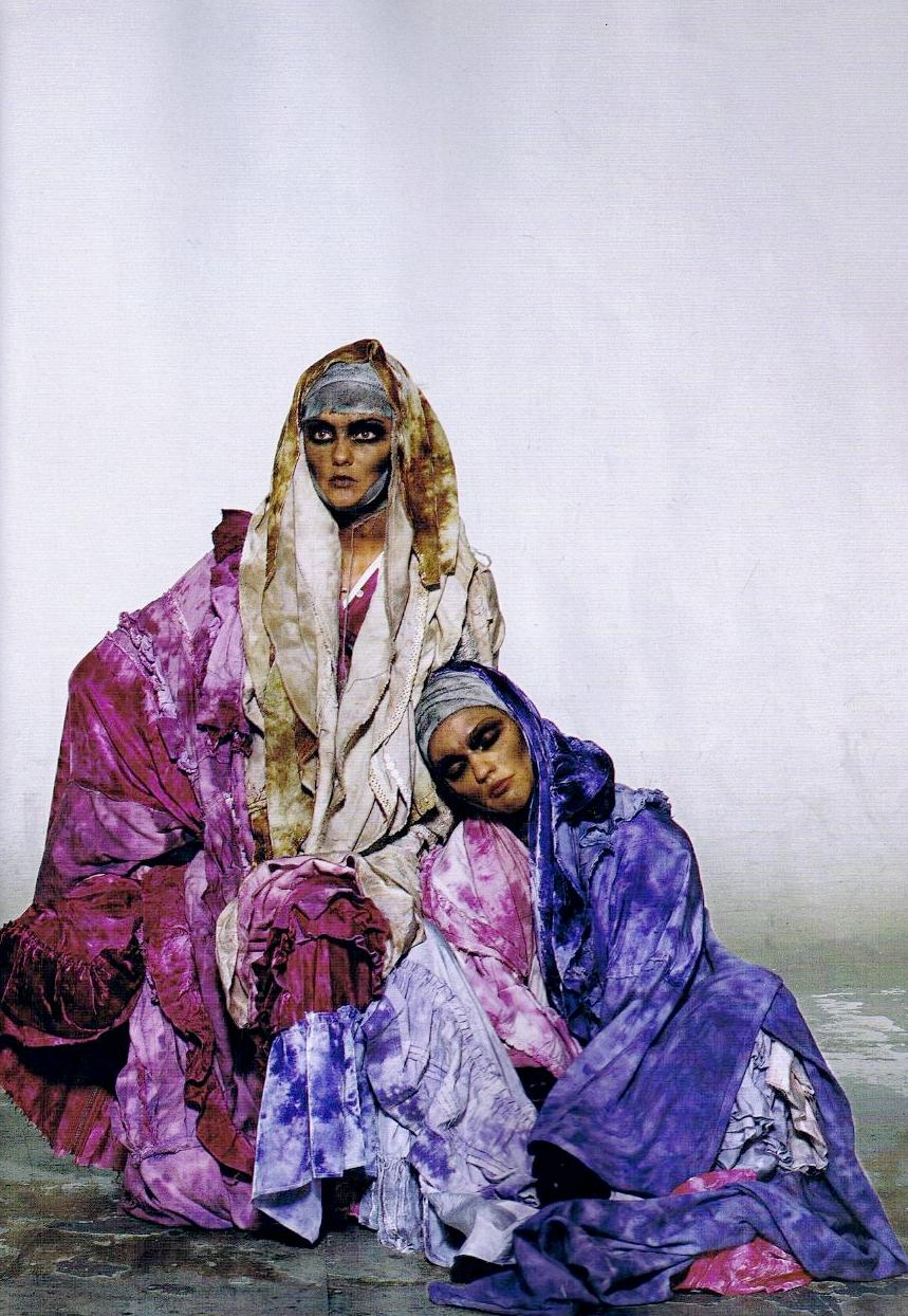 ghesquiereous: Caroline Trentini & SashaPivovarova photographed by Irving Penn