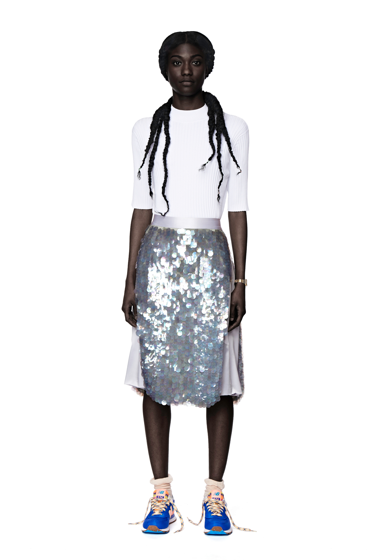 White apron ro - Scales Apron Skirt