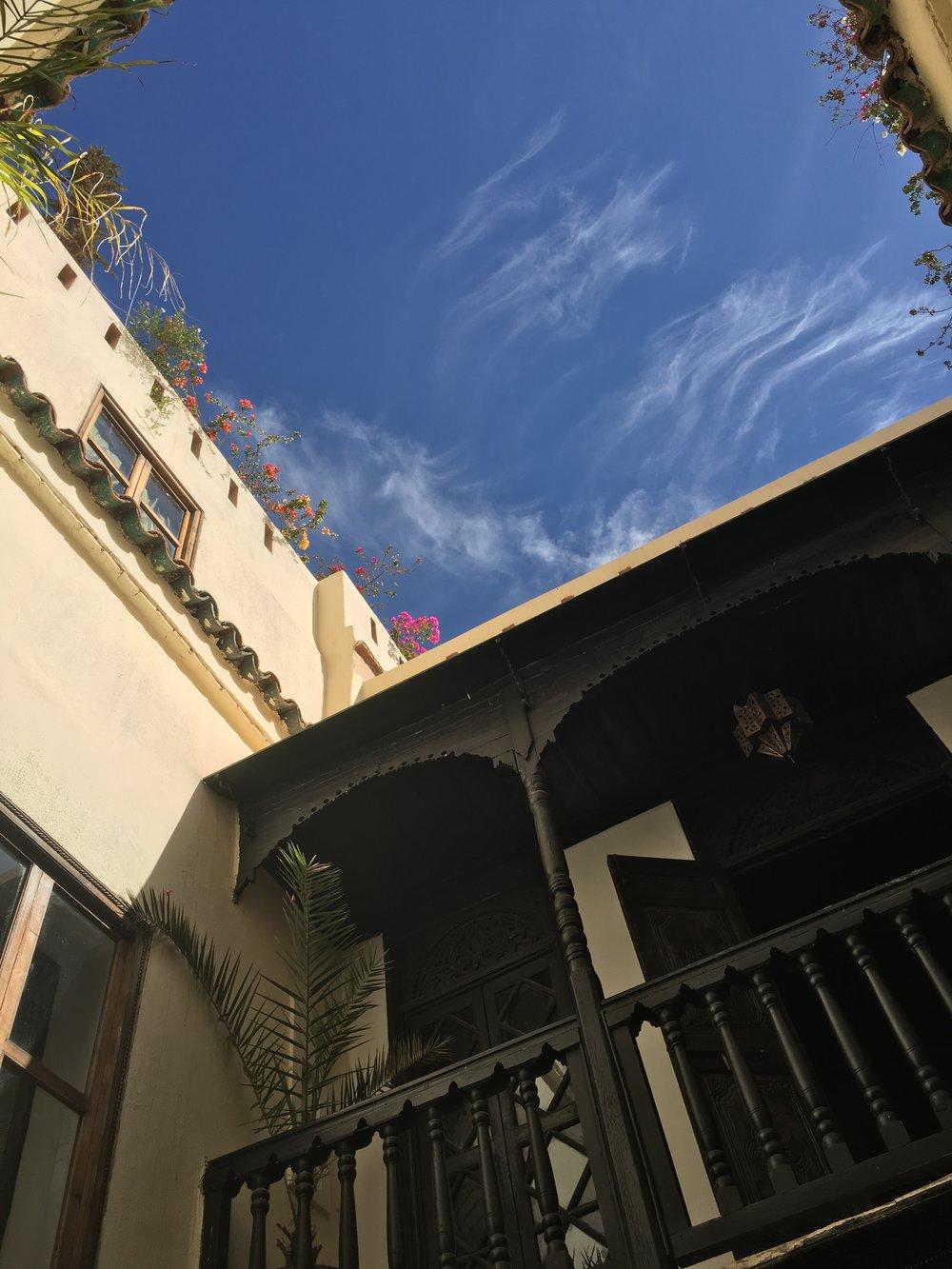 Riad Courtyard.