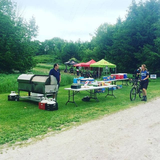 "At the York region mountain biking association's, ""take a kid mountain biking day!"" Come on out for some biking and bbq. The weather is beautiful and the trails are fantastic! #bike #mtb #getoutside #outsideisfree #velolove"