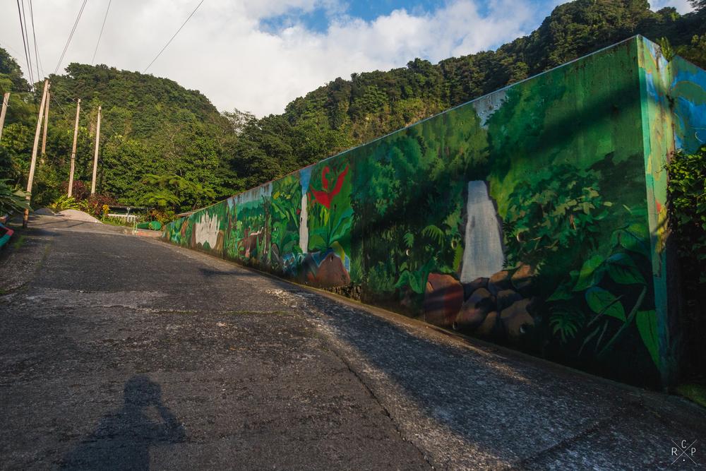 Mural - Trafalgar Falls, Dominica 07/03/2016