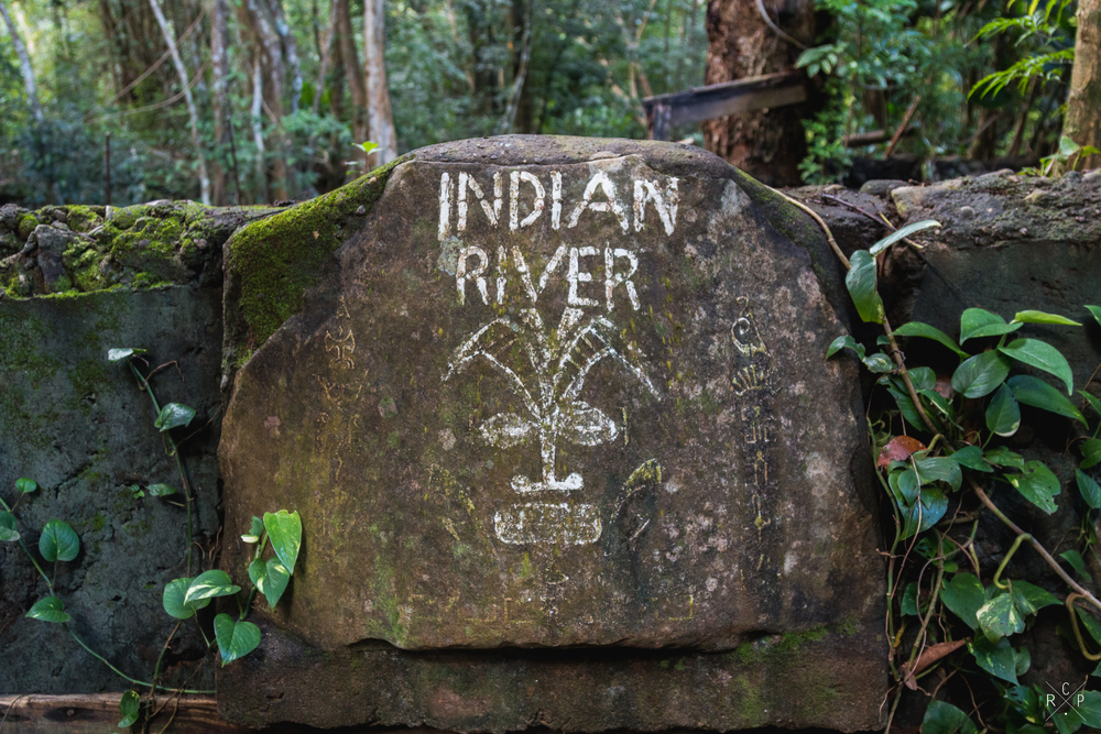 Indian River Sign - Indian River, Portsmouth, Dominica 10/03/2016