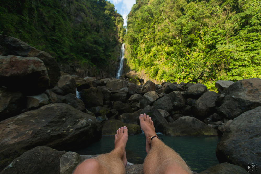 Feet & Father Falls - Trafalgar Falls, Dominica 07/03/2016