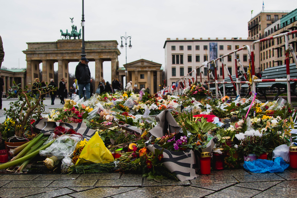 Flowers - Brandenburg Gate, Berlin, Germany 02/12/2015
