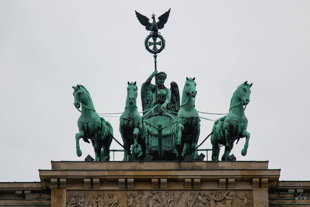 Gate Statue - Brandenburg Gate, Berlin, Germany 02/12/2015