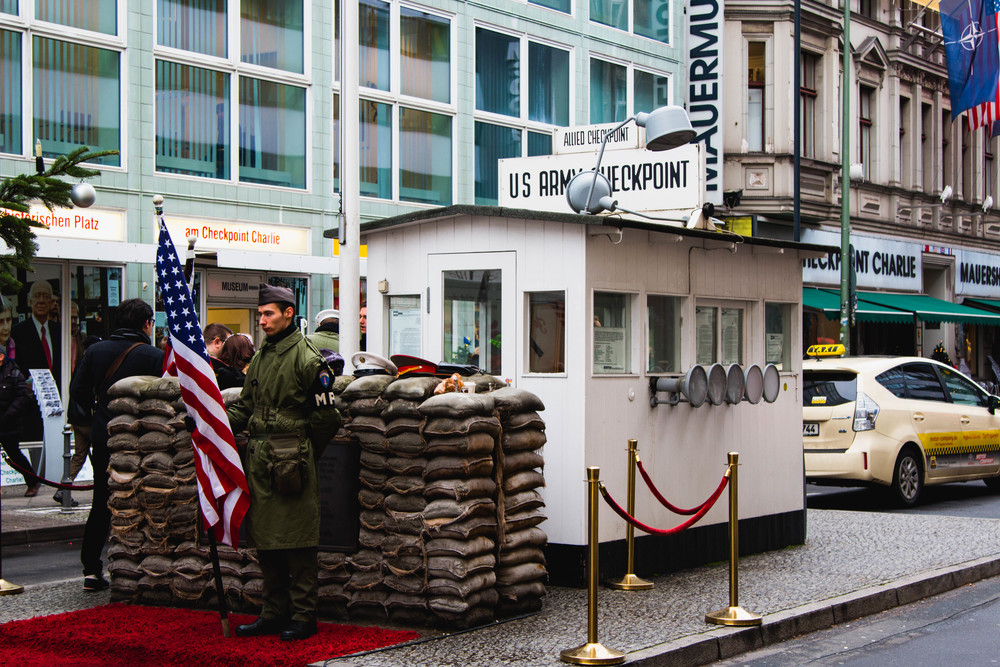 Booth - Checkpoint Charlie, Berlin, Germany 02/12/2015