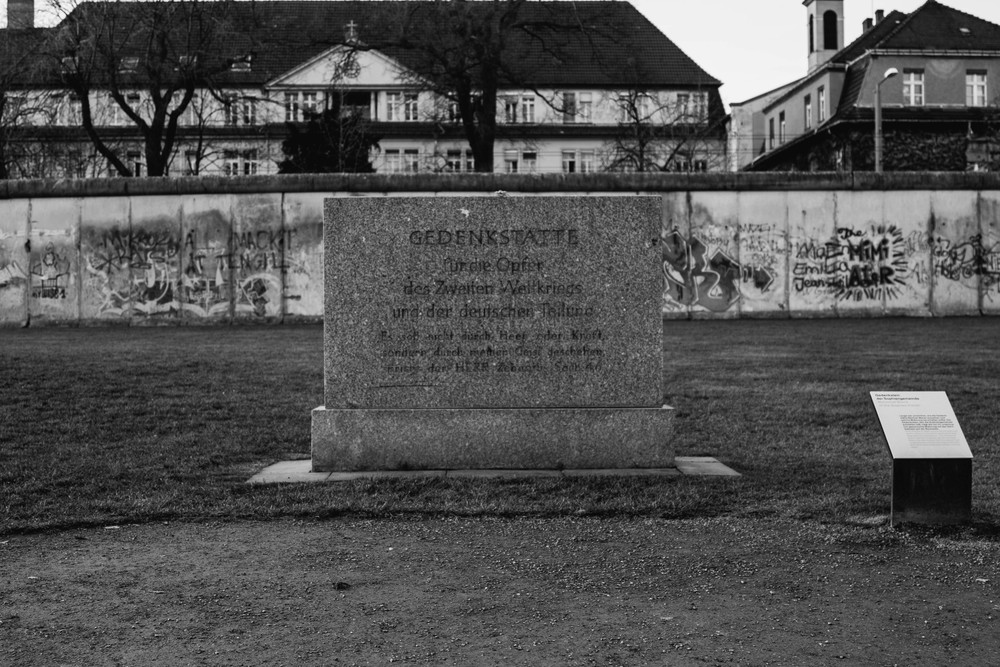 Headstone - Berlin Wall Memorial Site, Berlin, Germany 03/12/2015